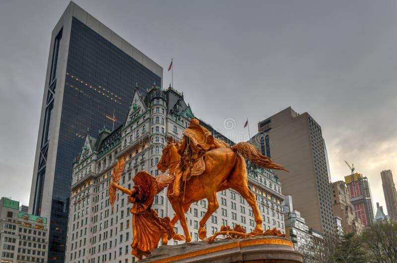 Γενικό μνημείο Sherman - πόλη της Νέας Υόρκης στοκ εικόνα