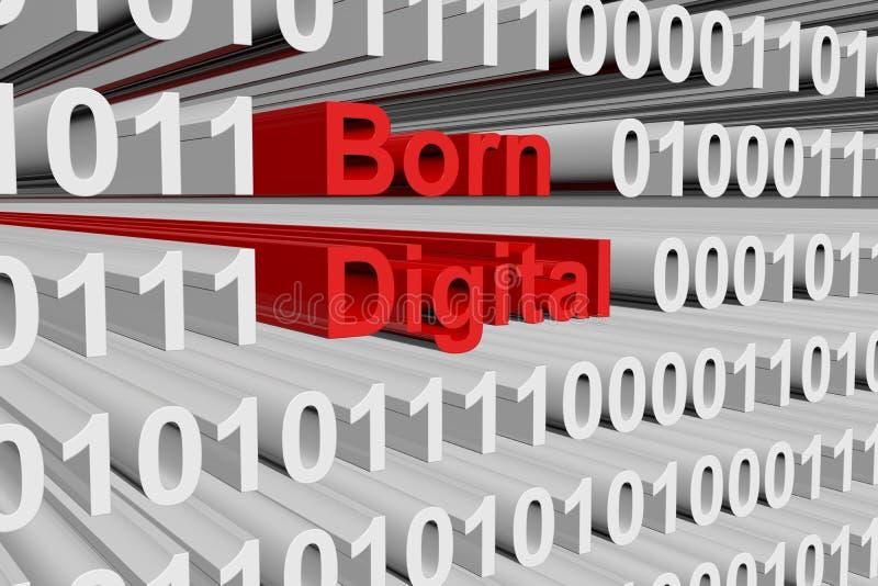 Γεννημένος ψηφιακός διανυσματική απεικόνιση