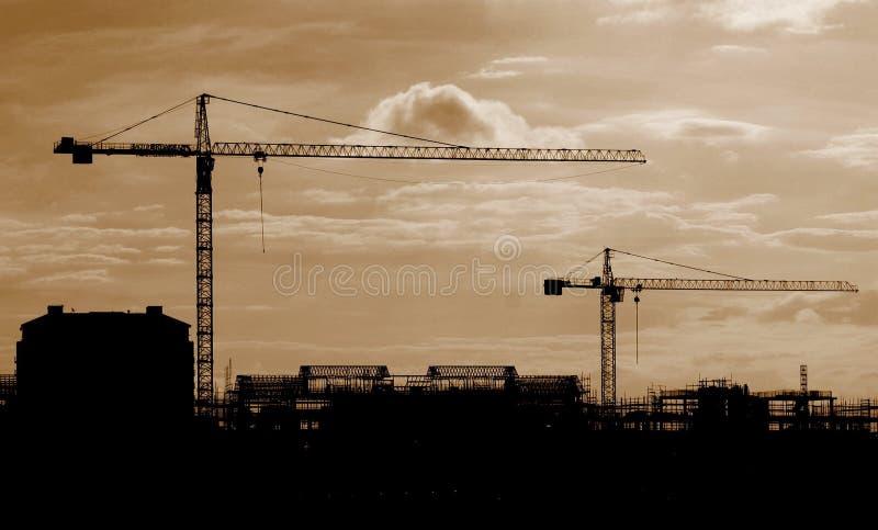 γερανοί βιομηχανικοί στοκ εικόνα με δικαίωμα ελεύθερης χρήσης
