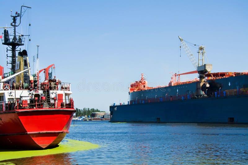Γερανοί ναυπηγείων στο ναυπηγείο Γντανσκ, Πολωνία στοκ εικόνες με δικαίωμα ελεύθερης χρήσης