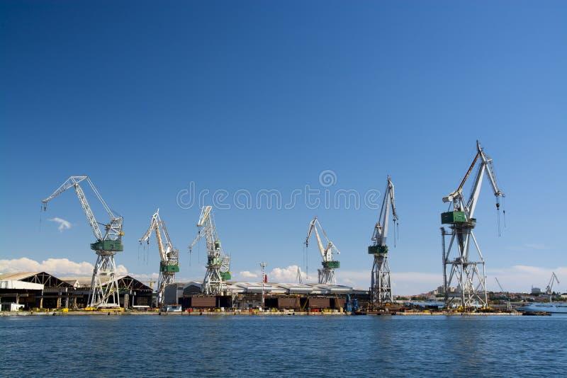 Γερανοί ναυπηγείων στοκ εικόνα