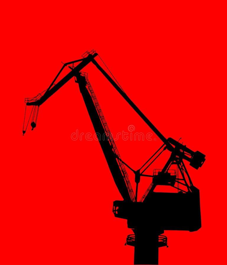 γερανός κατασκευής ελεύθερη απεικόνιση δικαιώματος
