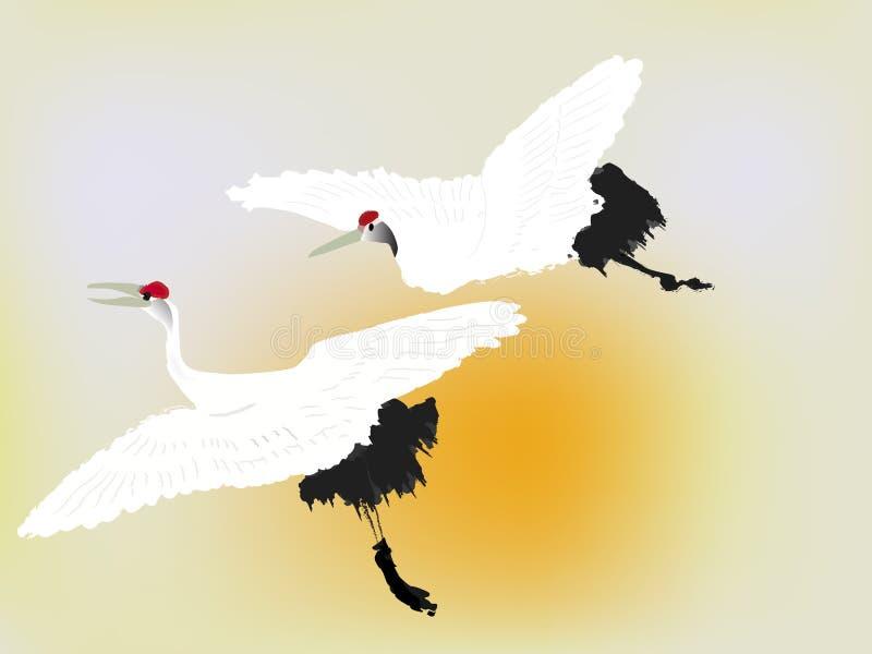 γερανός πουλιών διανυσματική απεικόνιση