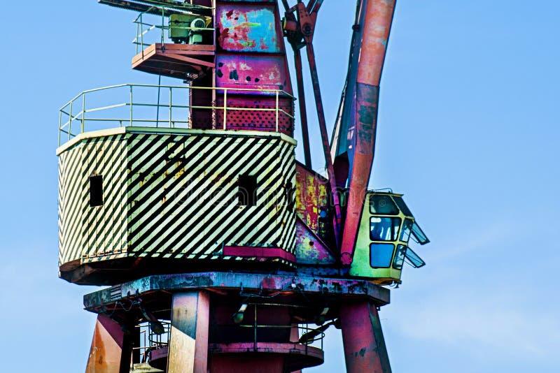 Γερανός στο ναυπηγείο στοκ φωτογραφία με δικαίωμα ελεύθερης χρήσης