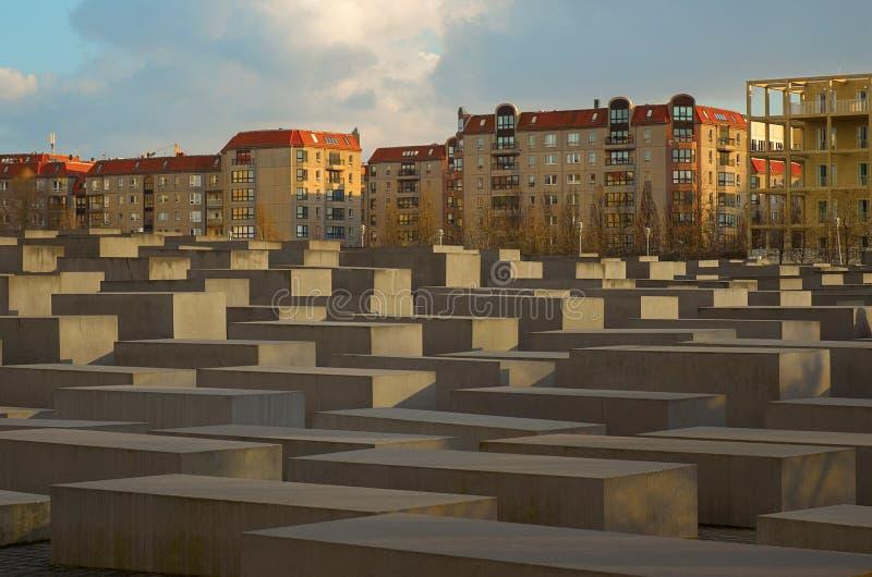 Γερμανία Μνημείο στα θύματα ολοκαυτώματος στο Βερολίνο 16 Φεβρουαρίου 2018 στοκ φωτογραφία με δικαίωμα ελεύθερης χρήσης