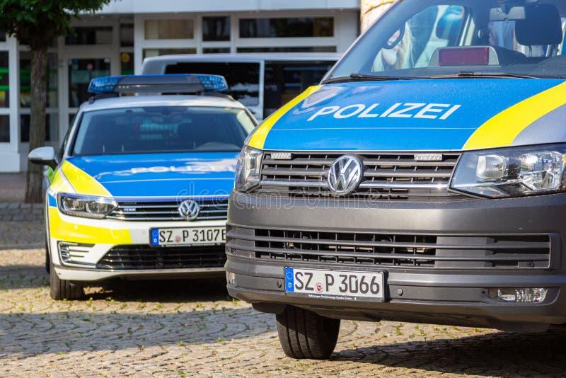 Γερμανικές στάσεις περιπολικών της Αστυνομίας σε μια δημόσια εκδήλωση στοκ φωτογραφία με δικαίωμα ελεύθερης χρήσης