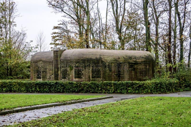Γερμανική αποθήκη που χτίζεται και που χρησιμοποιείται στον παγκόσμιο πόλεμο 2 στοκ φωτογραφία με δικαίωμα ελεύθερης χρήσης