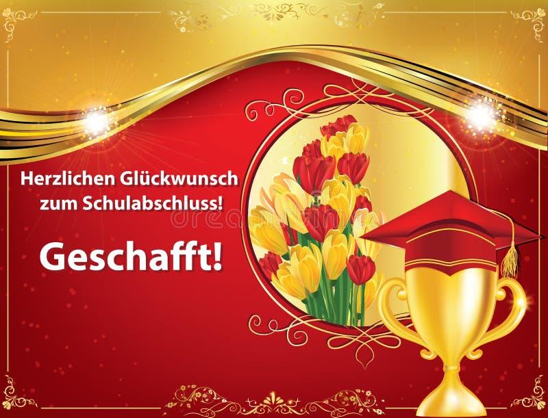 Γερμανική ευχετήρια κάρτα βαθμολόγησης, επίσης για την τυπωμένη ύλη διανυσματική απεικόνιση