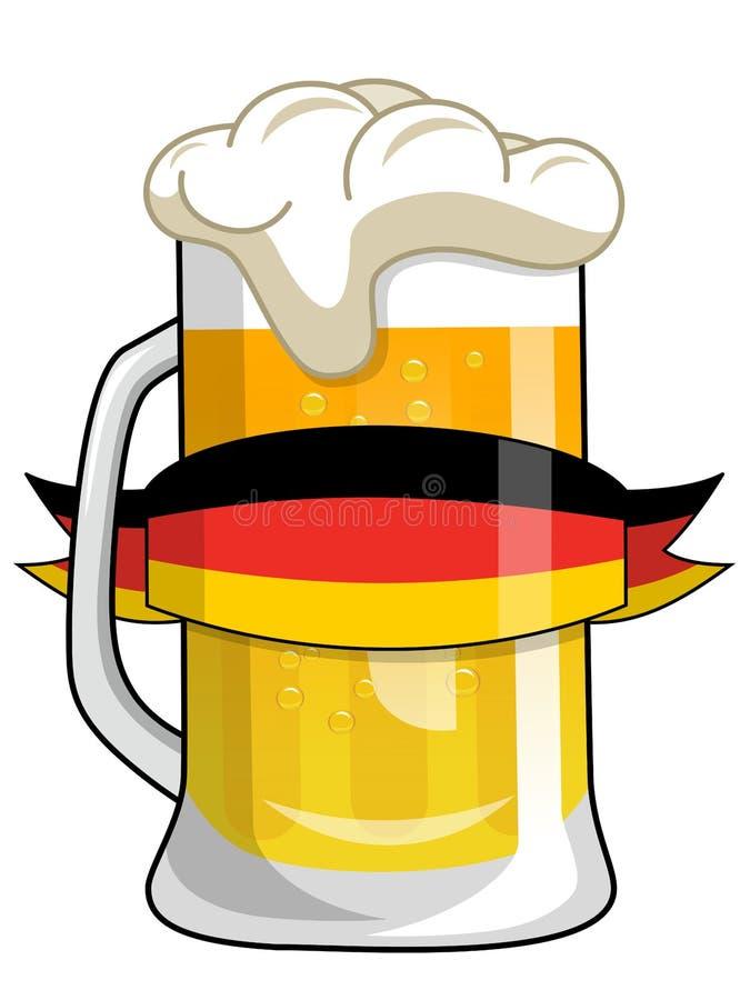 γερμανική κούπα μπύρας ελεύθερη απεικόνιση δικαιώματος