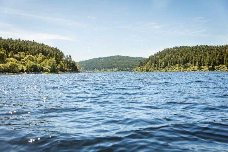 Γερμανική λίμνη Schluchsee και μαύρο δάσος, τουρισμός έννοιας και Tra στοκ φωτογραφίες