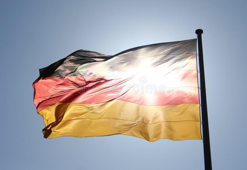 Γερμανική σημαία στοκ φωτογραφία με δικαίωμα ελεύθερης χρήσης
