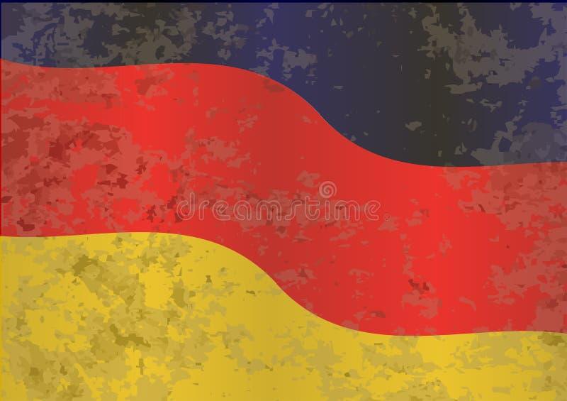Γερμανική σημαία Grunge διανυσματική απεικόνιση