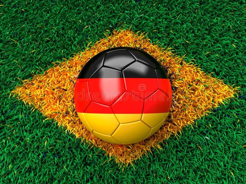 Γερμανική σφαίρα ποδοσφαίρου απεικόνιση αποθεμάτων