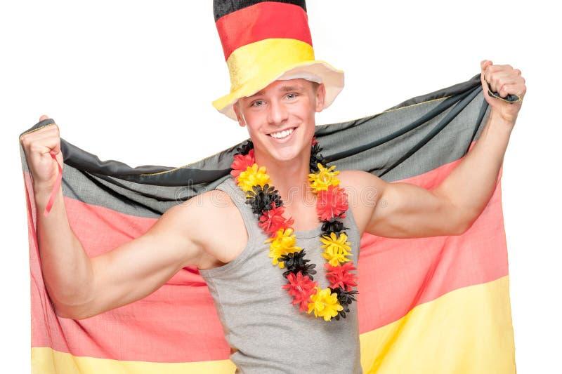 Γερμανικός ανεμιστήρας ποδοσφαίρου στοκ φωτογραφία με δικαίωμα ελεύθερης χρήσης