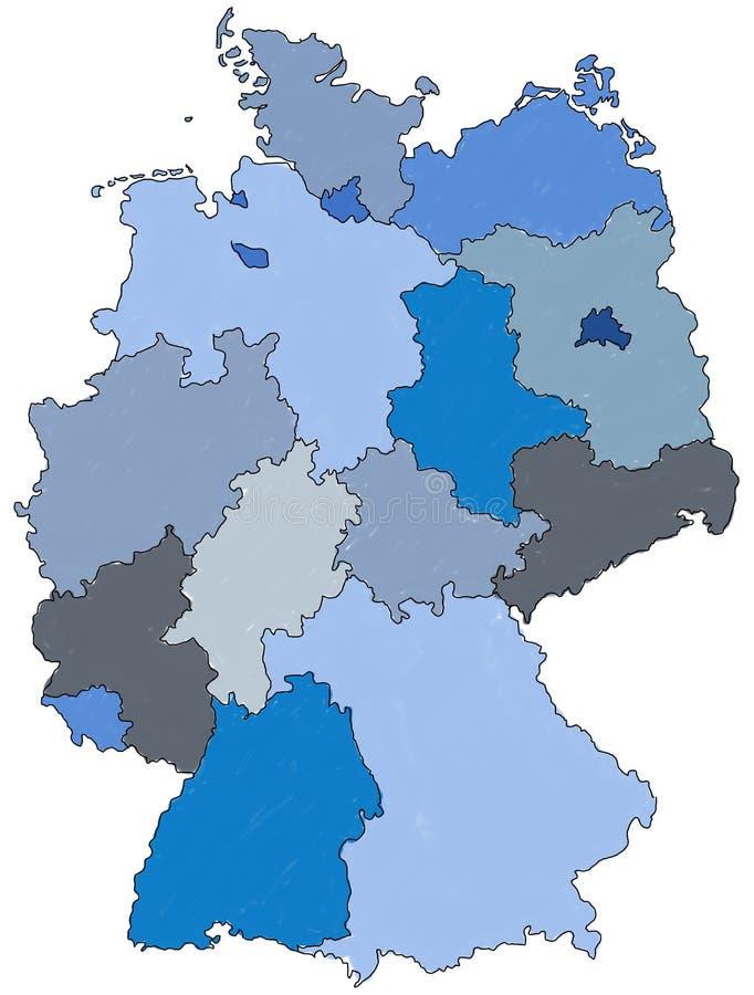 γερμανικός χάρτης ελεύθερη απεικόνιση δικαιώματος