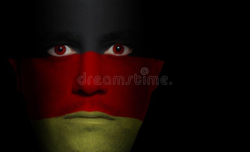 γερμανικό αρσενικό σημαιώ&n στοκ εικόνες