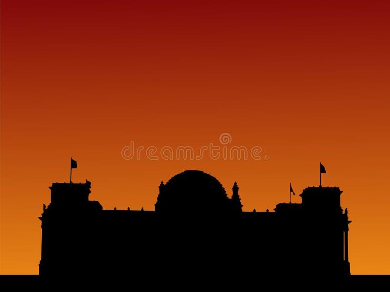 γερμανικό ηλιοβασίλεμα & ελεύθερη απεικόνιση δικαιώματος