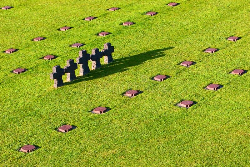 γερμανικό νεκροταφείο normandi στοκ εικόνες