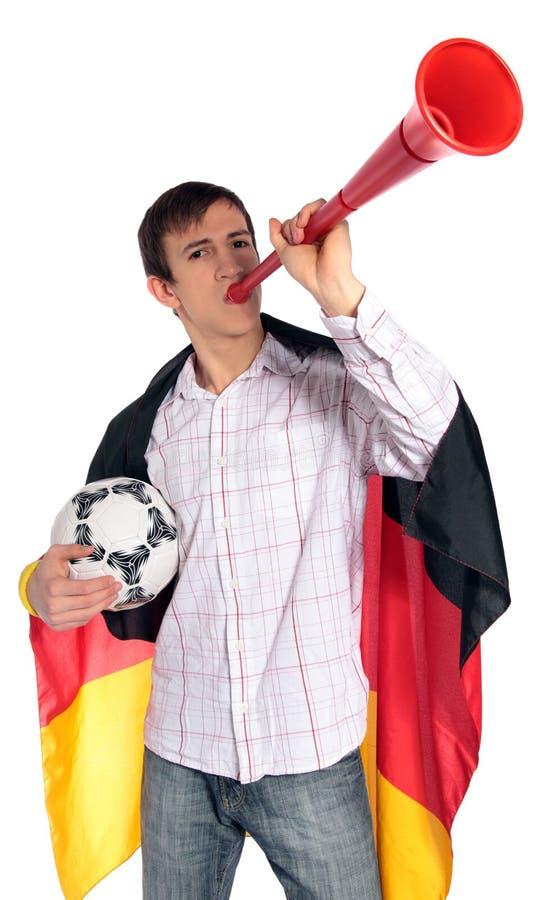 γερμανικό ποδόσφαιρο αν&epsilo στοκ φωτογραφία