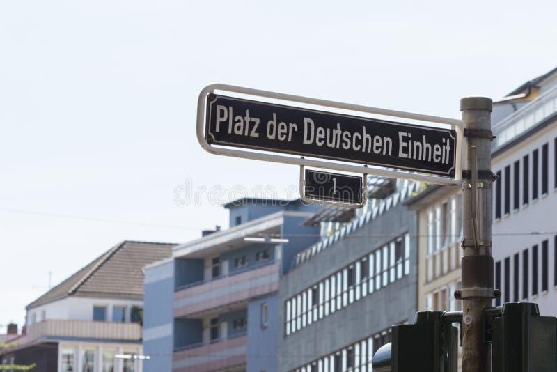 Γερμανικό σημάδι οδών στοκ φωτογραφίες