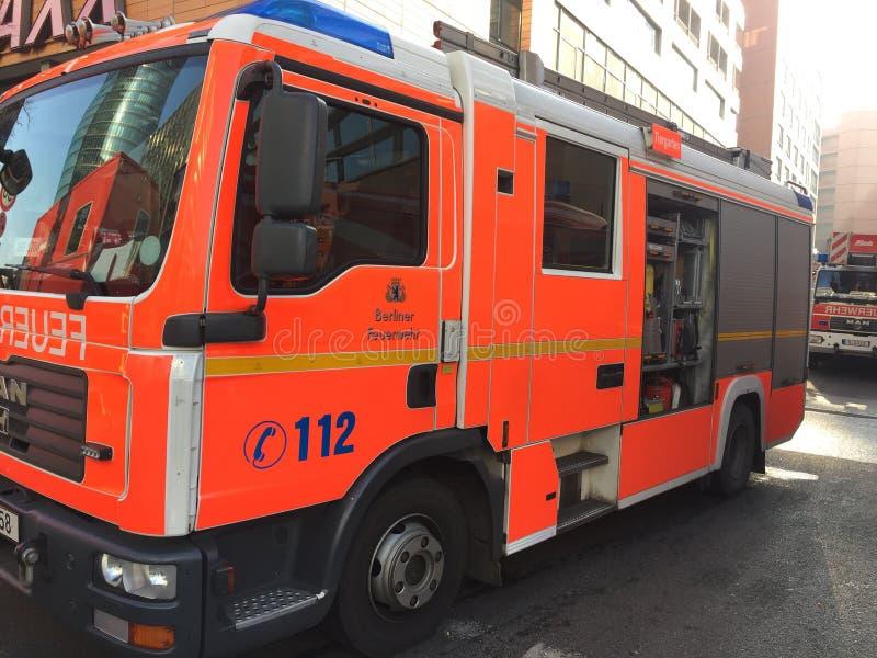 Γερμανικό φορτηγό υπηρεσιών πυροσβεστικών υπηρεσιών στοκ φωτογραφίες