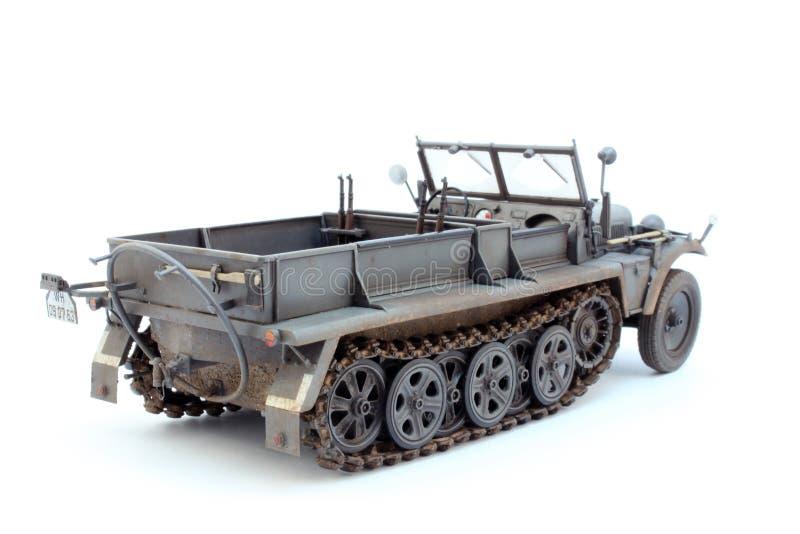 Γερμανικό WWII τρακτέρ πυροβολικού Sd.Kfz.10 D7 στοκ εικόνες