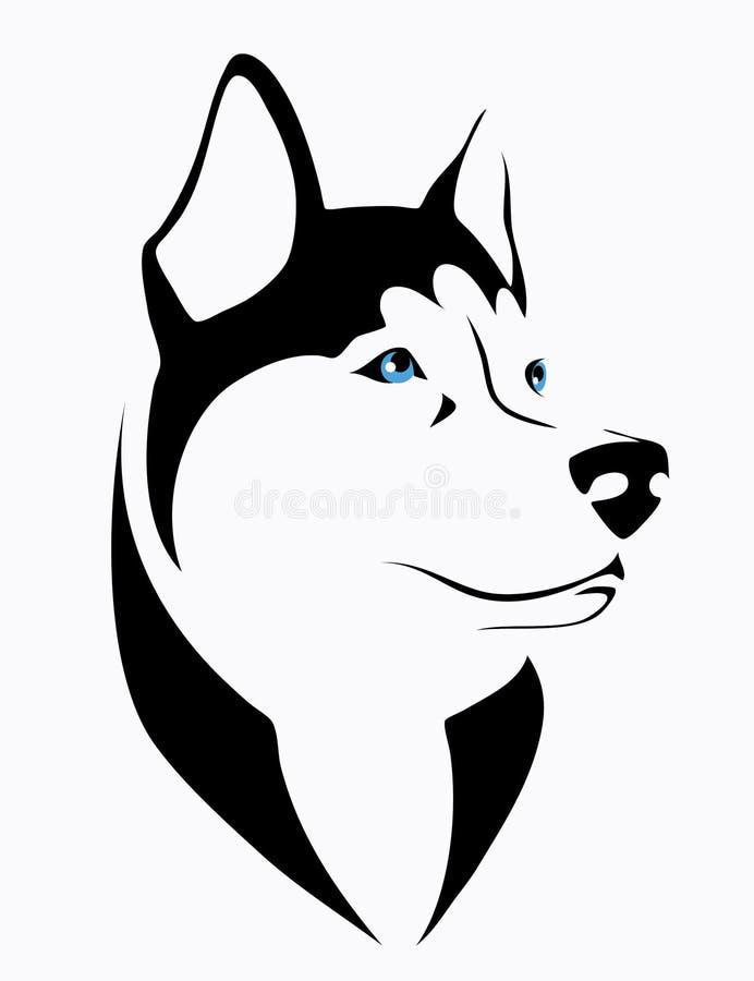 Γεροδεμένο σκυλί διανυσματική απεικόνιση