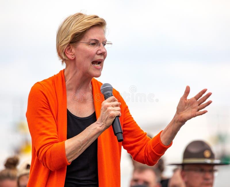 Γερουσιαστής και δημοκρατικός προεδρικός υποψήφιος Elizabeth Warren της Μασαχουσέτης στοκ φωτογραφίες