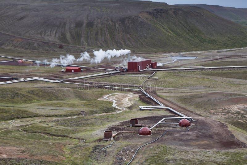 Γεωθερμικός σταθμός στοκ φωτογραφία με δικαίωμα ελεύθερης χρήσης