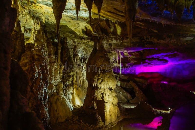 Γεωλογική σπηλιά PROMETHEUS μνημείων στοκ φωτογραφία με δικαίωμα ελεύθερης χρήσης