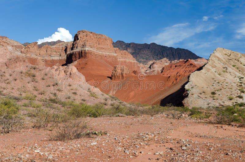 Γεωλογικός σχηματισμός Λα Yesera, ξηρό ρεύμα, Salta, Αργεντινή στοκ εικόνες με δικαίωμα ελεύθερης χρήσης