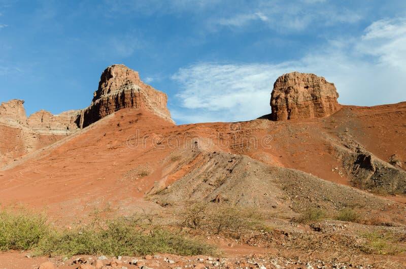 Γεωλογικός σχηματισμός Λα Yesera, ξηρό ρεύμα, Salta, Αργεντινή στοκ φωτογραφία με δικαίωμα ελεύθερης χρήσης