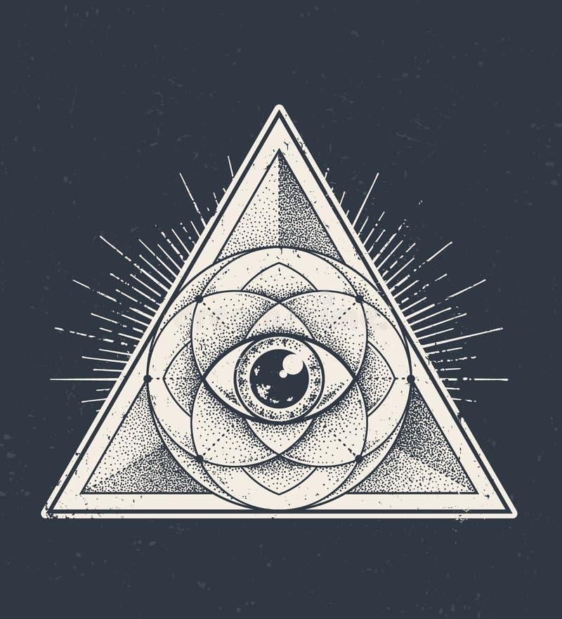 γεωμετρία ιερή διανυσματική απεικόνιση
