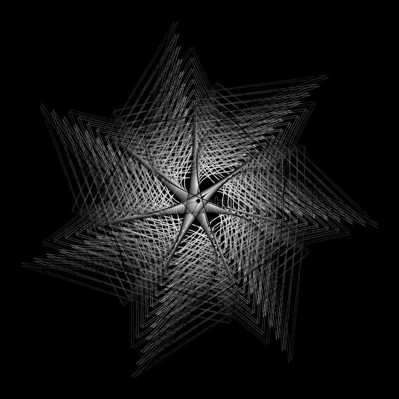 Γεωμετρικά καθορισμένα αστέρια και λουλούδια για το σχέδιο διανυσματικό EPS10 δώρων και διακοπών απεικόνιση αποθεμάτων