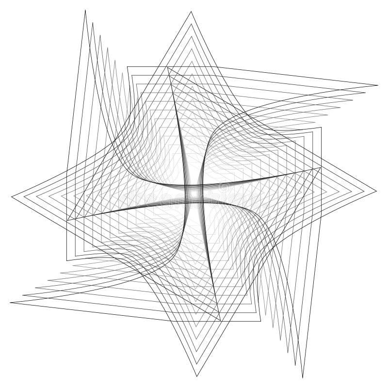Γεωμετρικά καθορισμένα αστέρια και λουλούδια για το σχέδιο διανυσματικό EPS10 δώρων και διακοπών διανυσματική απεικόνιση