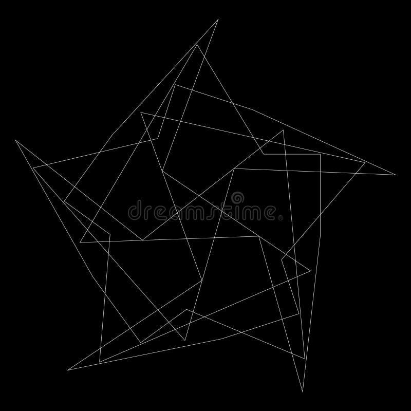 Γεωμετρικά καθορισμένα αστέρια και λουλούδια για το σχέδιο EPS10 δώρων και διακοπών ελεύθερη απεικόνιση δικαιώματος