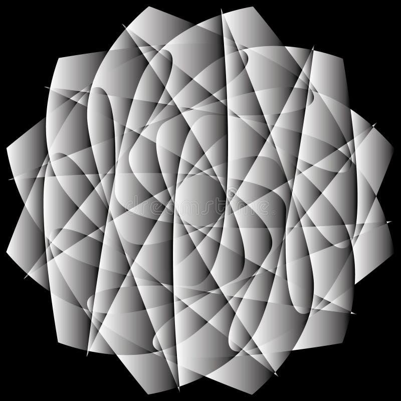 Γεωμετρικά καθορισμένα αστέρια και λουλούδια για το σχέδιο EPS10 δώρων και διακοπών απεικόνιση αποθεμάτων