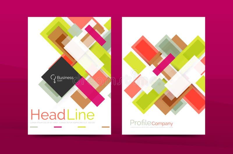 Γεωμετρικά πρότυπα επιχειρησιακών εκθέσεων ευθειών γραμμών ελεύθερη απεικόνιση δικαιώματος