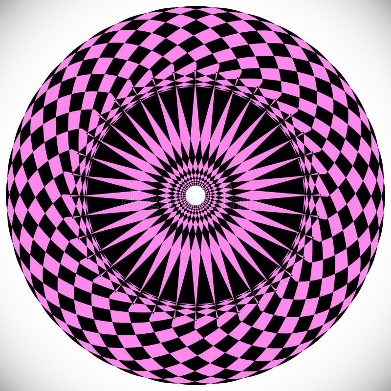 Γεωμετρικά στοιχεία κύκλων Αφηρημένη κυκλική μορφή ελεύθερη απεικόνιση δικαιώματος