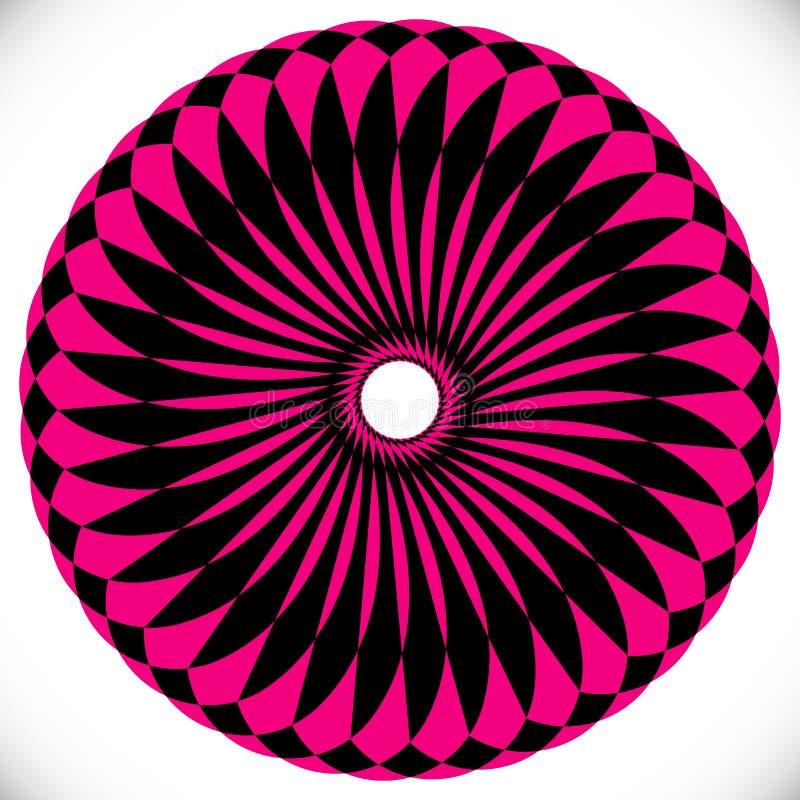 Γεωμετρικά στοιχεία κύκλων Αφηρημένη κυκλική μορφή διανυσματική απεικόνιση