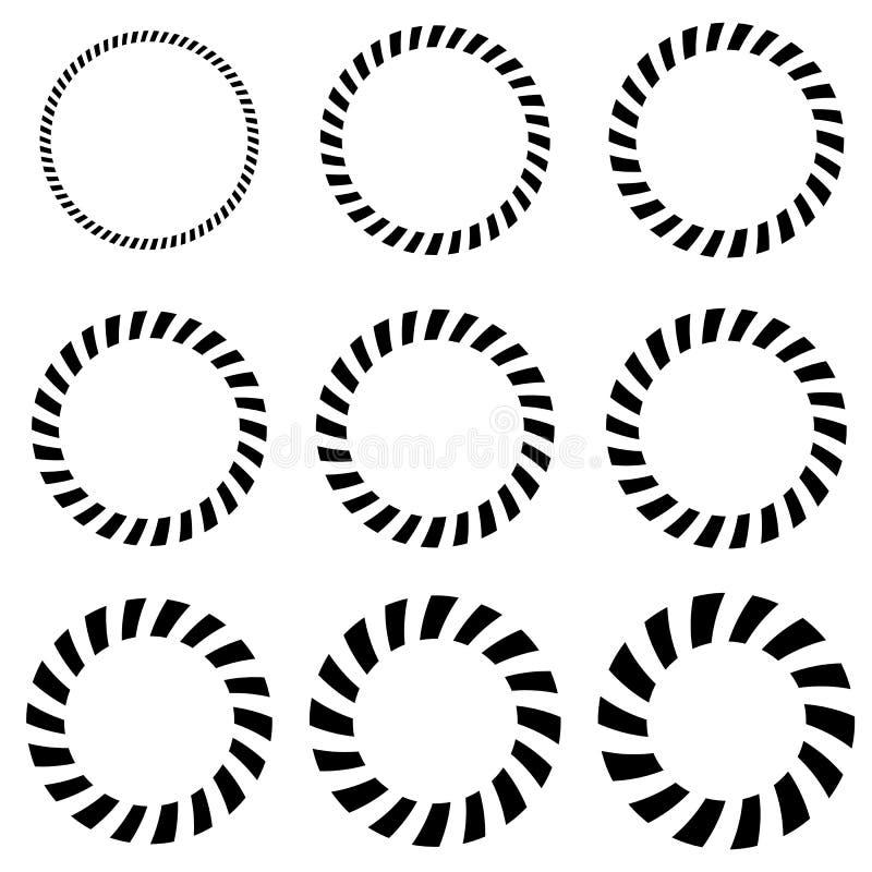 Γεωμετρικά στοιχεία κύκλων στο πάχος 9 Μονοχρωματικός κύκλος shap ελεύθερη απεικόνιση δικαιώματος
