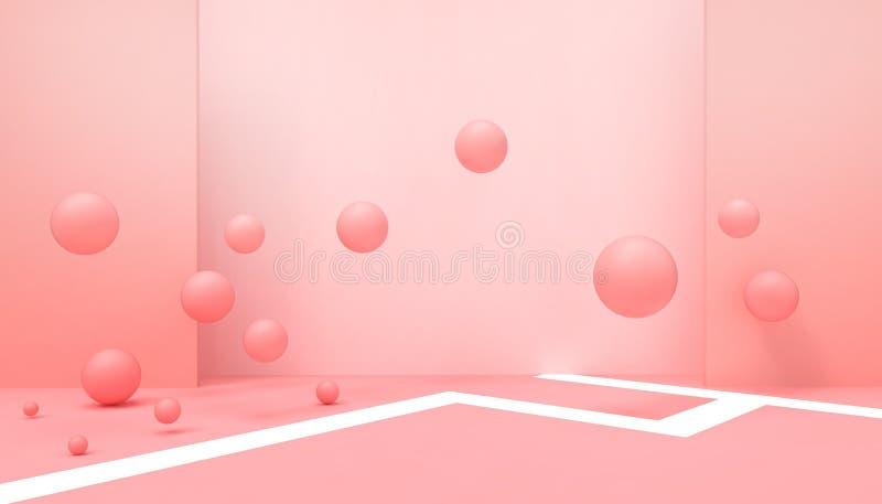 Γεωμετρικά σχήματα Αφηρημένα Φόντο Εορτασμοί Σύγχρονη τέχνη και επιχειρηματικές ιδέες Έμπνευση Ιδέα Ευτυχισμένος στον παστέλ Ραντ απεικόνιση αποθεμάτων