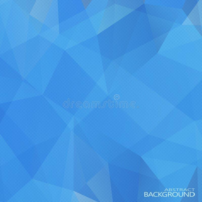 Γεωμετρικά τριγωνικά αφηρημένα μπλε χρώματα ελεύθερη απεικόνιση δικαιώματος