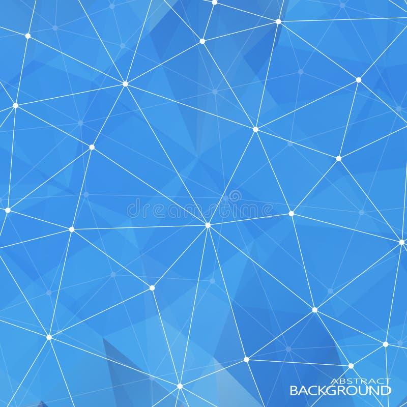 Γεωμετρικά τριγωνικά αφηρημένα μπλε χρώματα διανυσματική απεικόνιση