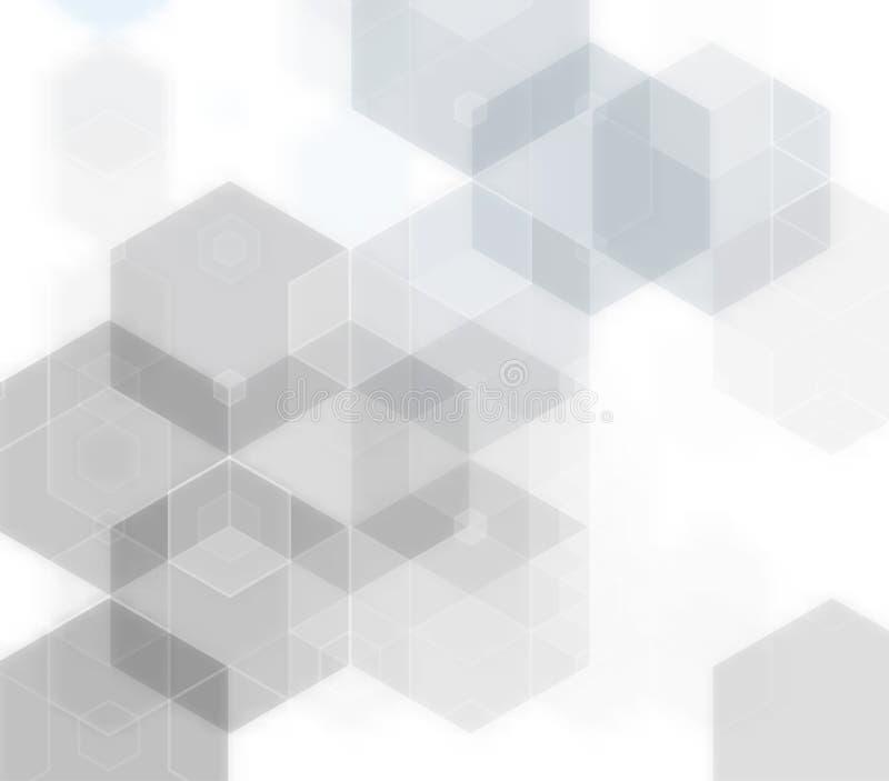Γεωμετρικές γκρίζες μόριο και επικοινωνία υποβάθρου επίσης corel σύρετε το διάνυσμα απεικόνισης ελεύθερη απεικόνιση δικαιώματος