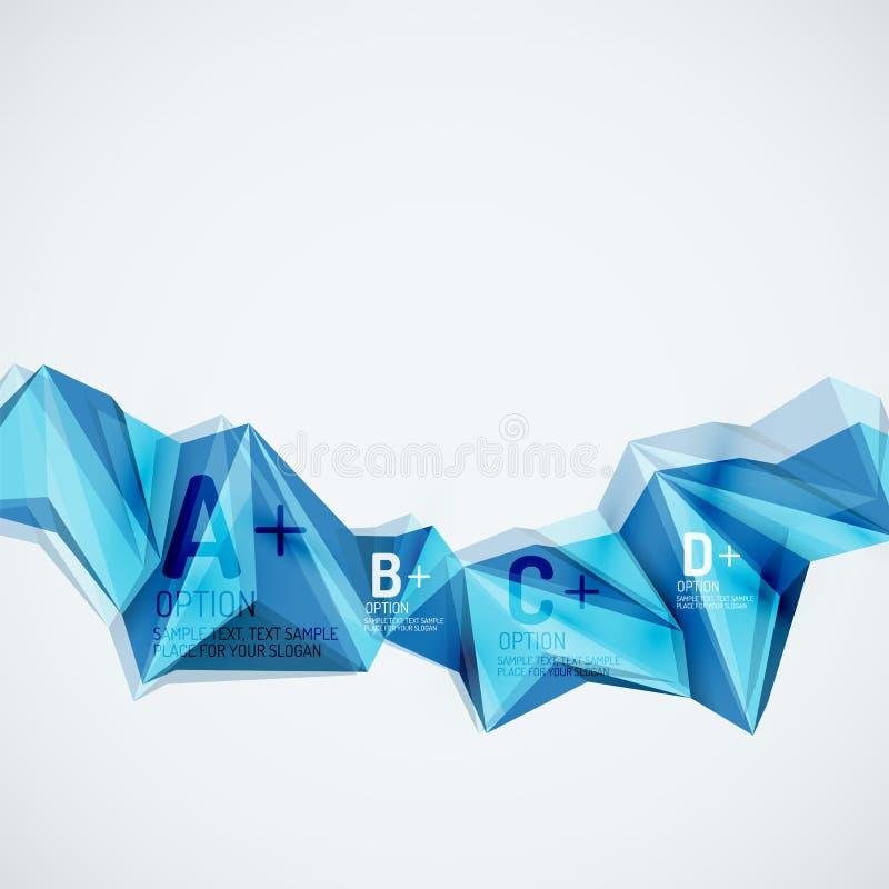 Γεωμετρικές μορφές στον αέρα αφηρημένο διάνυσμα σύστασης δ bacground 3 διανυσματική απεικόνιση