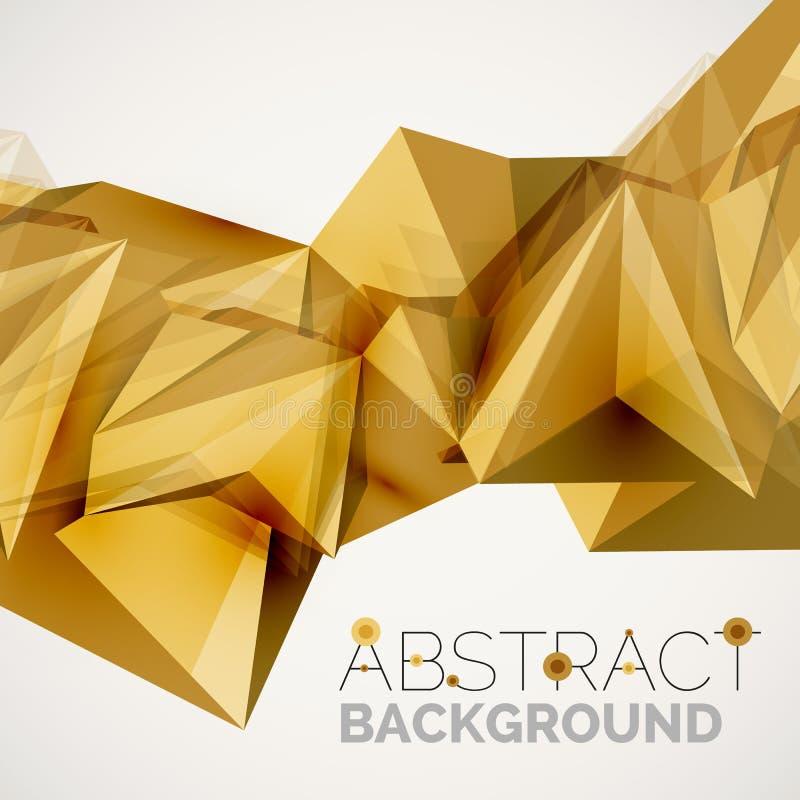 Γεωμετρικές μορφές στον αέρα αφηρημένο διάνυσμα σύστασης δ bacground 3 ελεύθερη απεικόνιση δικαιώματος