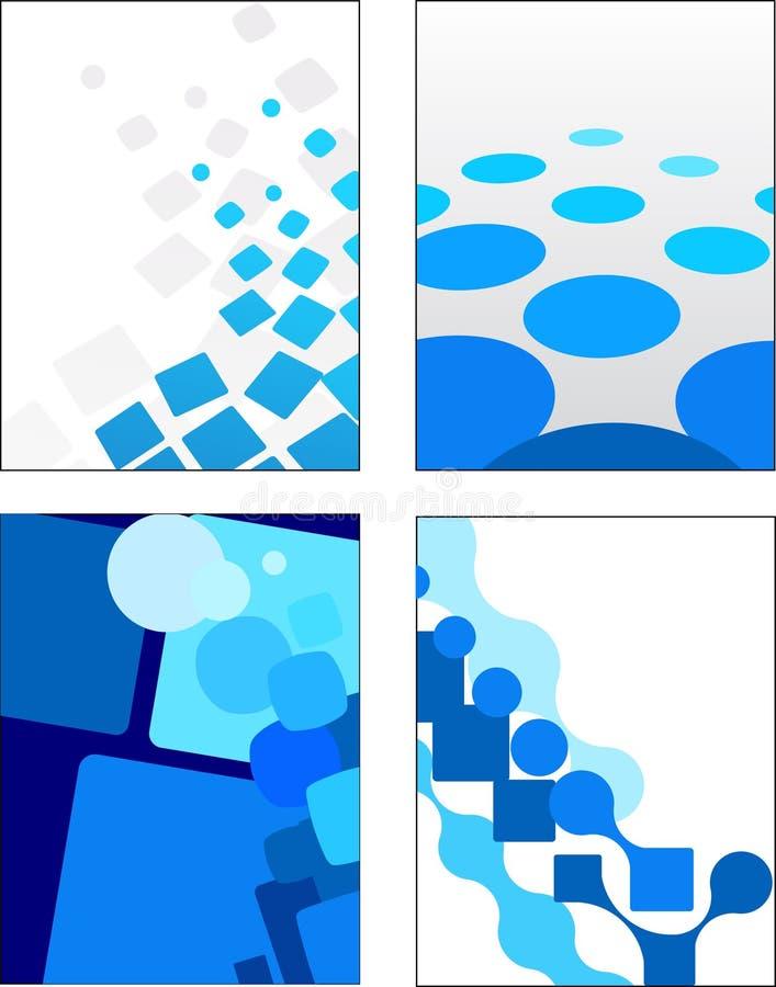 Γεωμετρικές μπλε διανυσματικές ανασκοπήσεις απεικόνιση αποθεμάτων