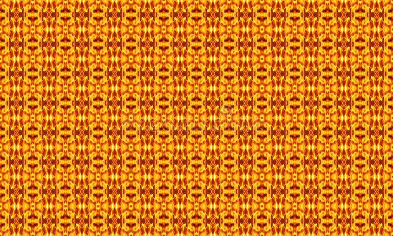 Γεωμετρική άνευ ραφής διακόσμηση από τα μικρά αφηρημένα στοιχεία σε θερμό διανυσματική απεικόνιση