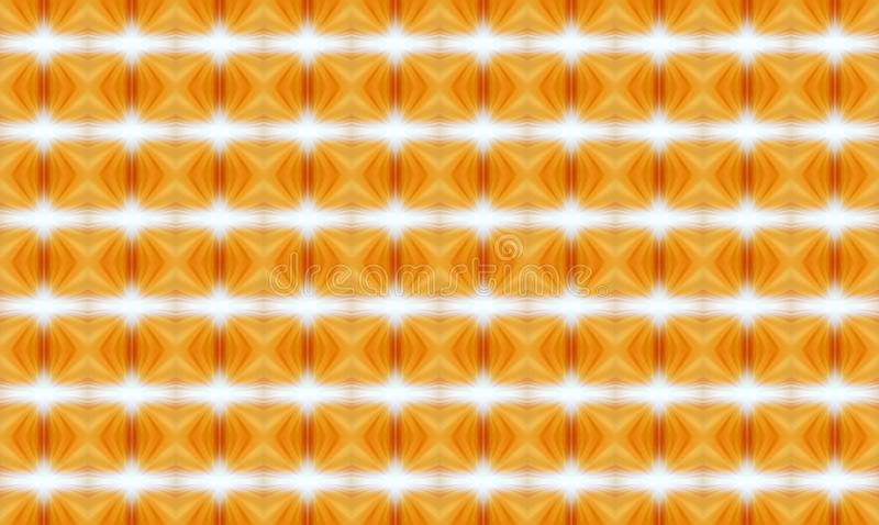 Γεωμετρική άνευ ραφής διακόσμηση του πορτοκαλιού με τα φωτεινά στοιχεία στο θόριο ελεύθερη απεικόνιση δικαιώματος